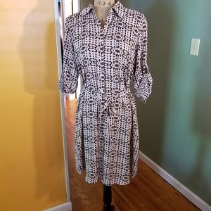 CAbi Colony Club shirt Dress tibal print
